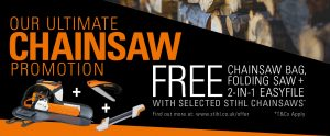 Stihl ultimate chainsaw promotion